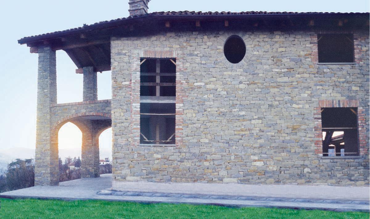 Murature in pietra di langa muri in pietre di langa for Casa di facciata in pietra