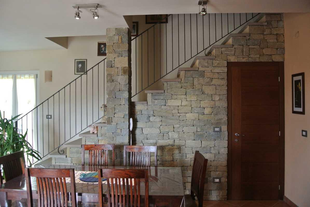 Parete in pietra per interno rivestire una parete con la - Pitturare una parete esterna ...