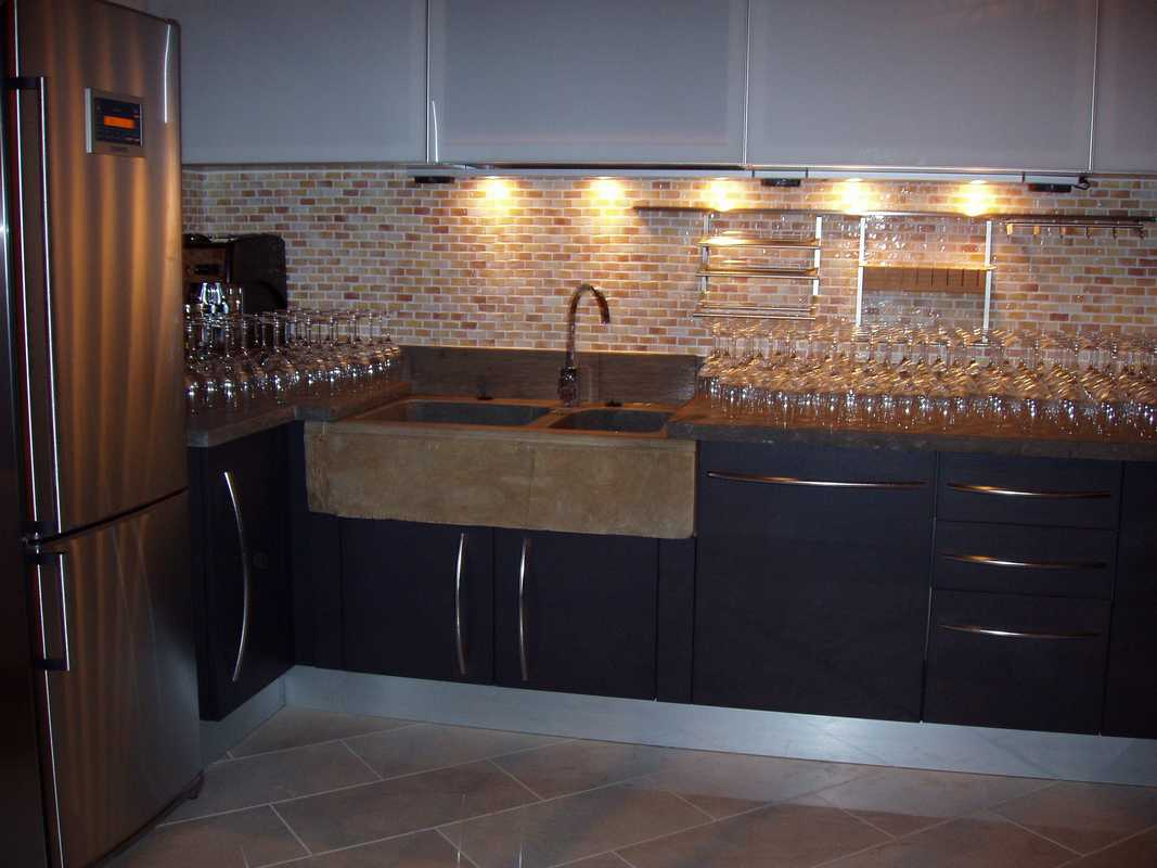 Lavello per cucina in pietra di langa naturale su misura n 33 - Lavelli cucina in pietra ...