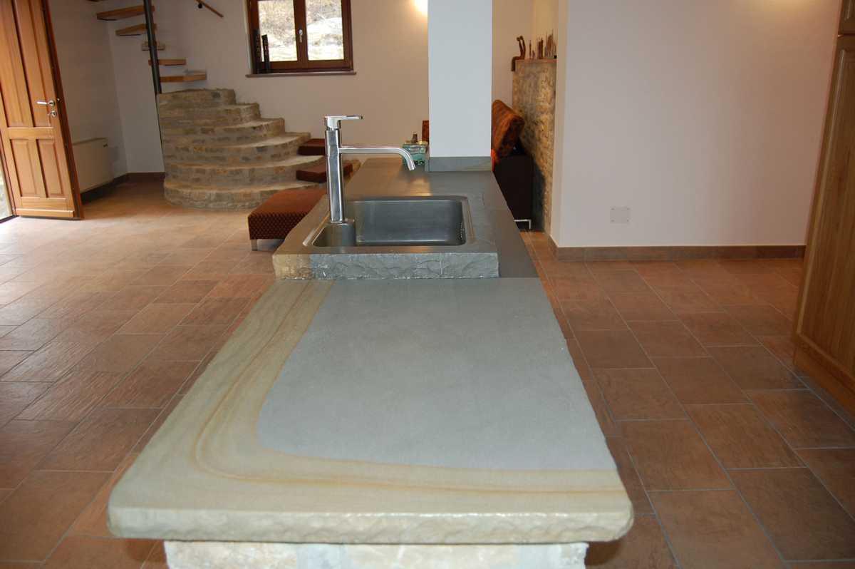 Piano per cucina in pietra n 26 - Pietra per cucina ...